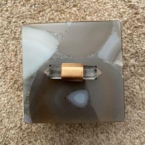 Kendra Scott Tan Agate Square Box